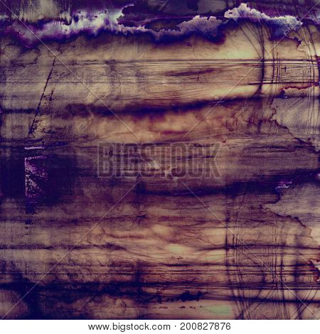 Tinted vintage texture, aged decorative grunge background with traditional antique elements and different color patterns