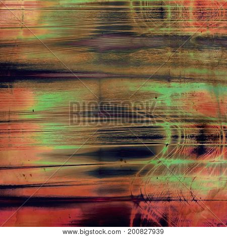 Abstract dirty texture or grungy background. With old style decorative elements and different color patterns