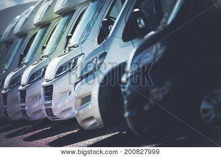 RV Motorhomes Industry. Recreational Vehicles Sales. Camper Vans RV Dealer. poster