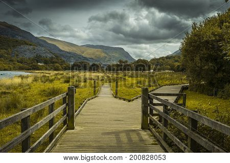 Beautiful landscape of Snowdonia National Park, Wales, United Kingdom