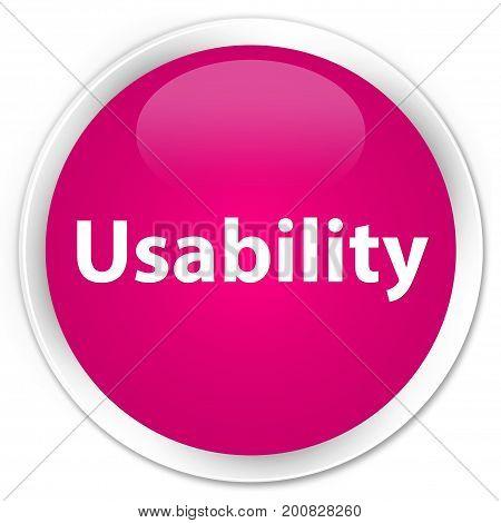 Usability Premium Pink Round Button