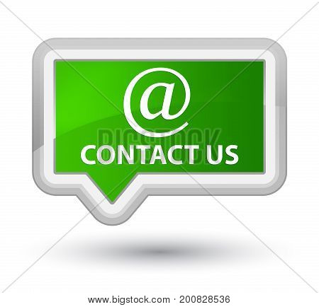 Contact Us (email Address Icon) Prime Green Banner Button