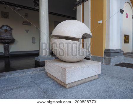 Gio Pomodoro Sculpture In Turin