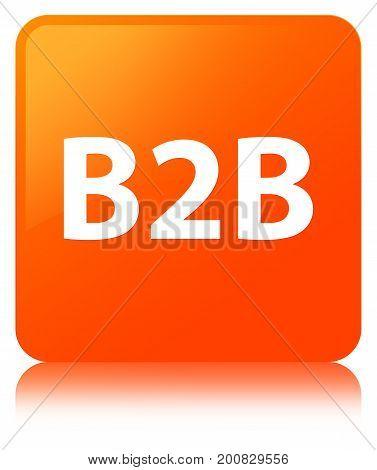 B2B Orange Square Button