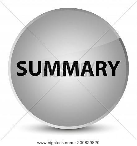 Summary Elegant White Round Button
