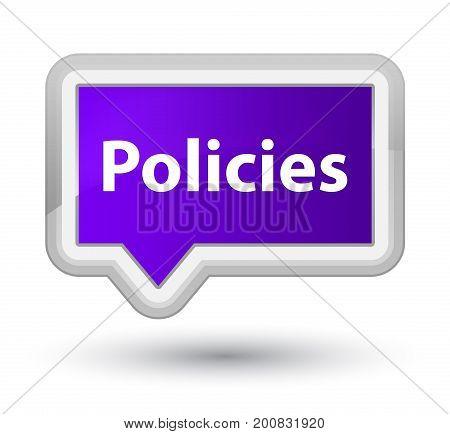 Policies Prime Purple Banner Button