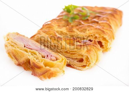 ham and cheese with pastry dough