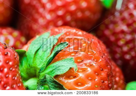 Detail Of Red Strawberry