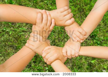 Chain Of Children'S Hand