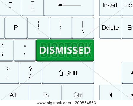 Dismissed Green Keyboard Button