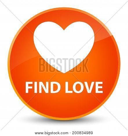 Find Love Elegant Orange Round Button