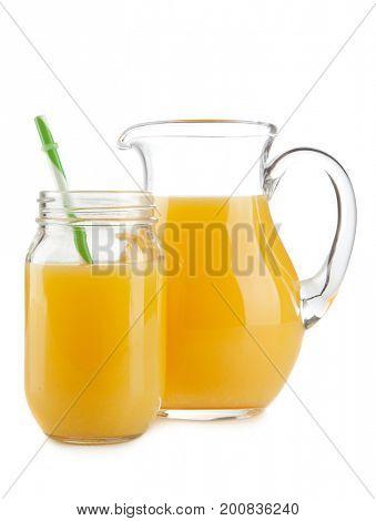 Jar of orange juice
