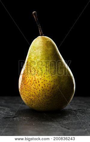 Pear on dark background