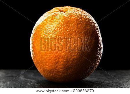 Orange on dark background