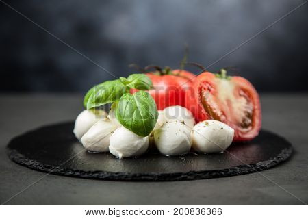Tomato basil and mozzarella