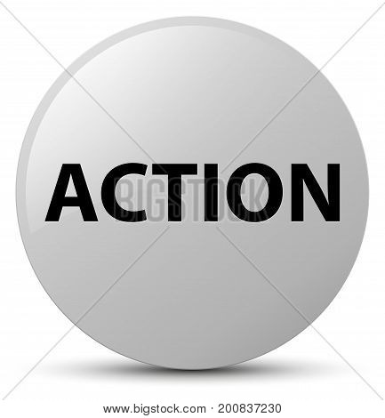 Action White Round Button