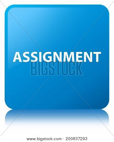 Assignment Cyan Blue Square Button