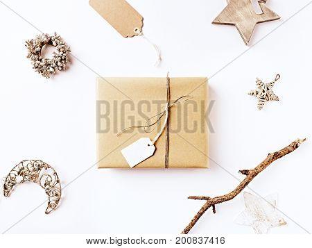 Christmas Present and Vintage Christmas Decorations
