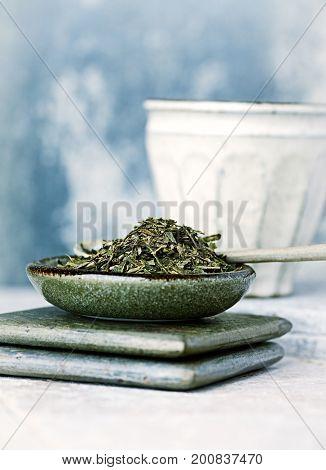Sencha green Tea Leaves