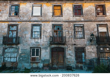 Abandoned in the old Porto downtown, Portugal.