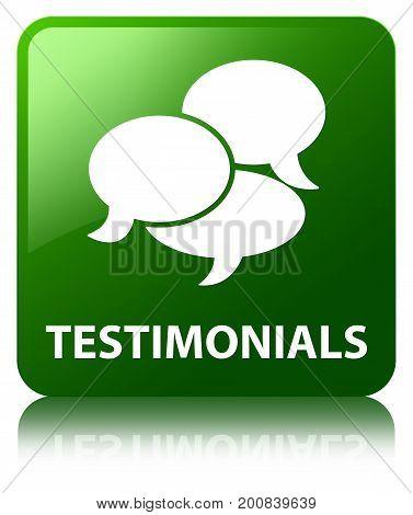 Testimonials (comments Icon) Green Square Button