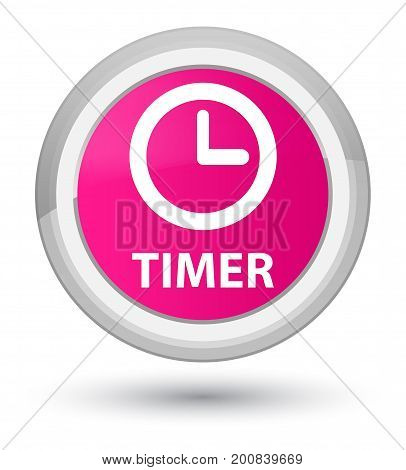 Timer Prime Pink Round Button
