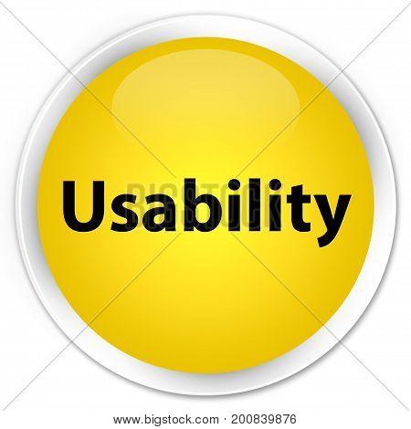 Usability Premium Yellow Round Button