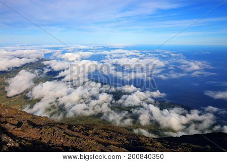 Pico Volcano in Azores, Portugal, Europe