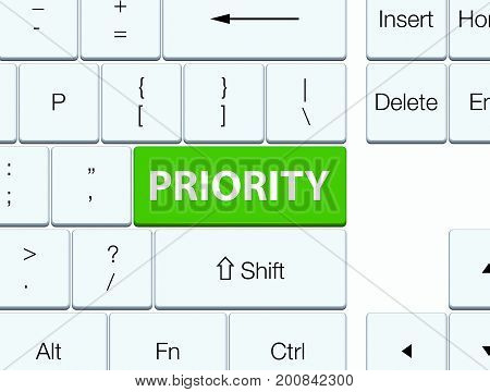 Priority Soft Green Keyboard Button