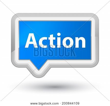 Action Prime Cyan Blue Banner Button