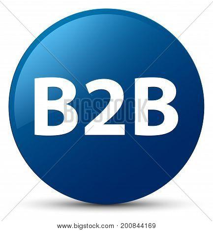 B2B Blue Round Button