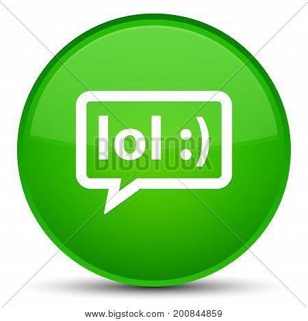Lol Bubble Icon Special Green Round Button
