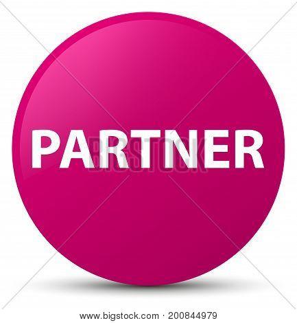 Partner Pink Round Button