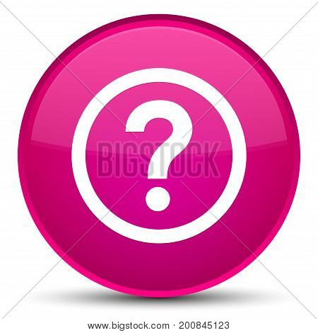 Question Icon Special Pink Round Button