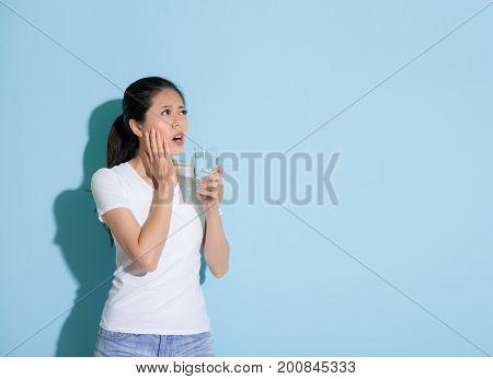 Pretty Elegant Woman Hand On Sensitive Teeth Part