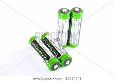 Four rechargeable batteries