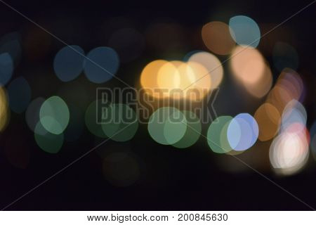 Bokeh Light Effect Colorfull Blur Abstract Background