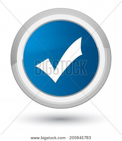 Validation Icon Prime Blue Round Button