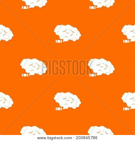 Tear gas pattern repeat seamless in orange color for any design. Vector geometric illustration