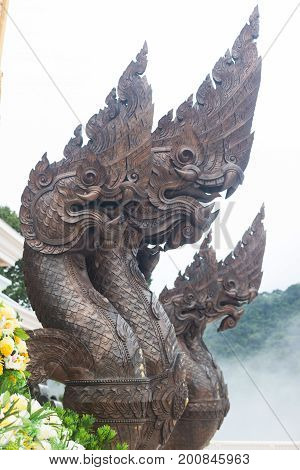 statue of a Thailand serpent (King of Nagas)