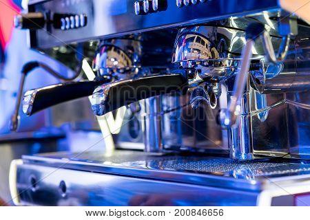 Coffee Machine Making Coffee In Coffeeshop