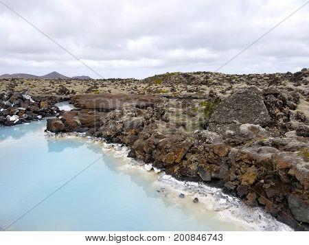 Blue Lagoon In Iceland, Europe. National Landmark.