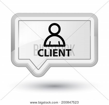 Client (member Icon) Prime White Banner Button