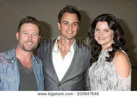 LOS ANGELES - AUG 20:  Jacob Young, Darin Brooks, Heather Tom at the Bold and the Beautiful Fan Event 2017 at the Marriott Burbank Convention Center on August 20, 2017 in Burbank, CA