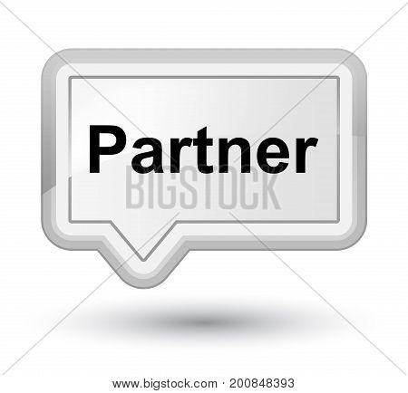 Partner Prime White Banner Button
