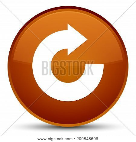 Reply Arrow Icon Special Brown Round Button