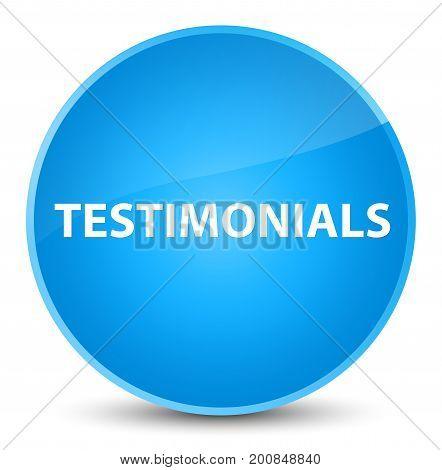 Testimonials Elegant Cyan Blue Round Button