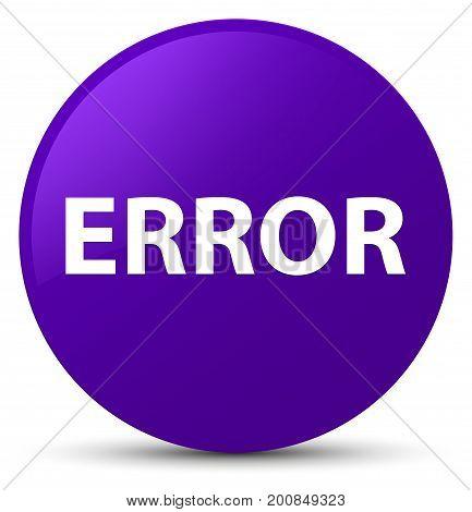 Error Purple Round Button