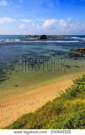 Ocean Coast Of Fort Gale At Sri Lanka