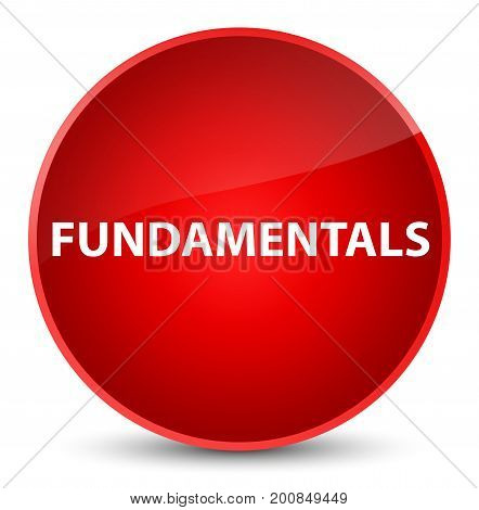 Fundamentals Elegant Red Round Button